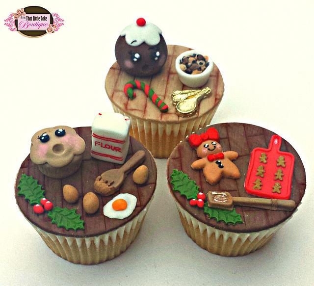 Kawaii Christmas Food Cupcakes