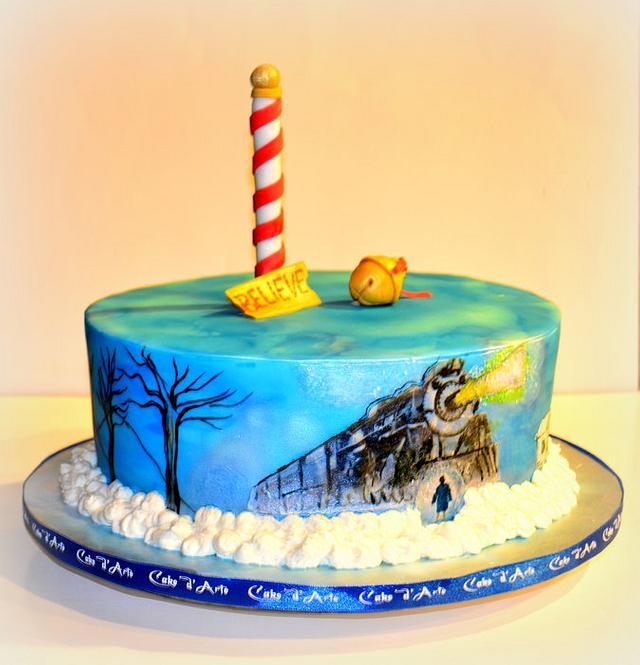 Cool Believe Polar Express Theme Cake By Cake Darte Cakesdecor Funny Birthday Cards Online Fluifree Goldxyz