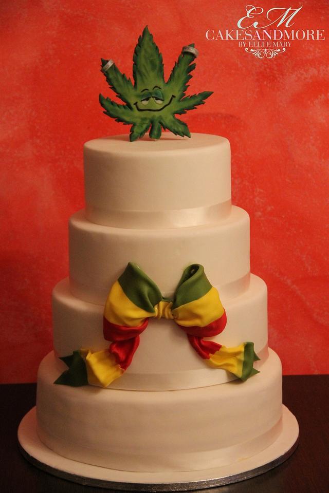 Reggae wedding cake