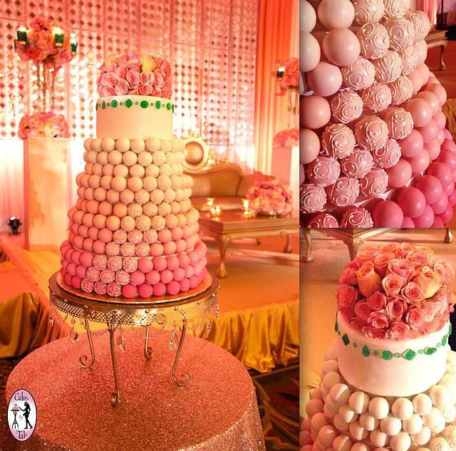Indian cake-pop wedding cake