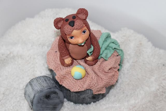 Teddy baby Anne geddes style