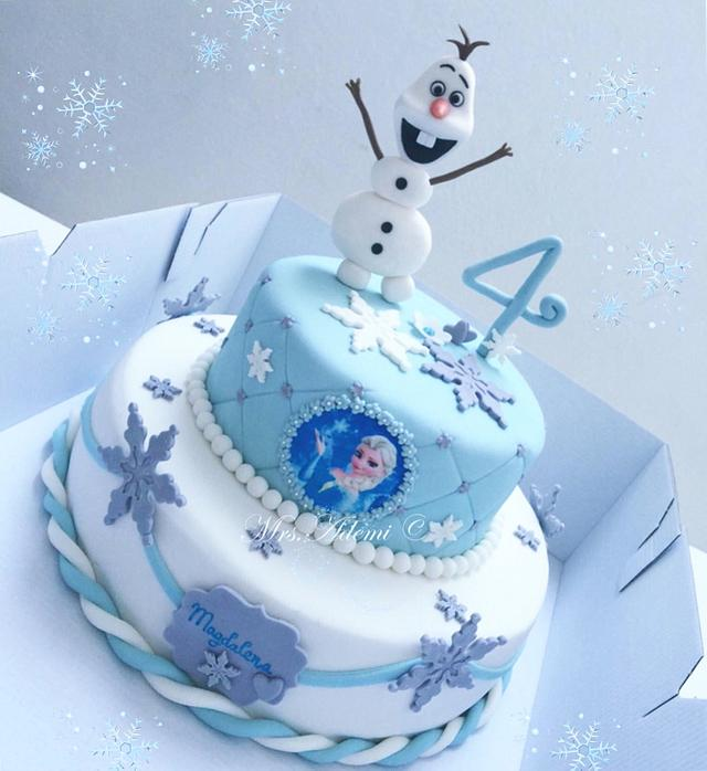 Fantastic Olaf Frozen Birthday Cake Cake By Fromghettotocakes Cakesdecor Birthday Cards Printable Opercafe Filternl