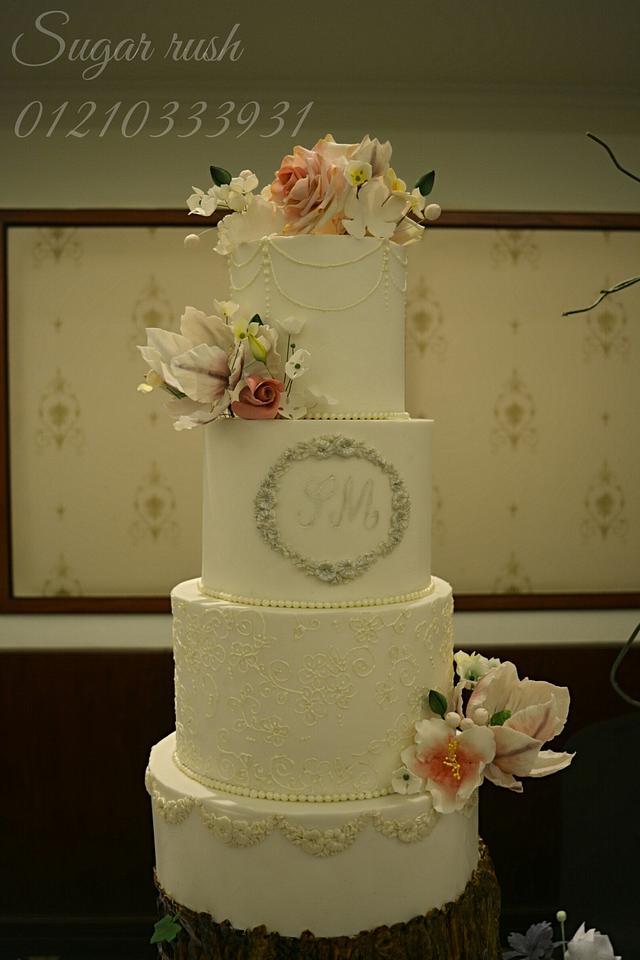 Love Story wedding cake