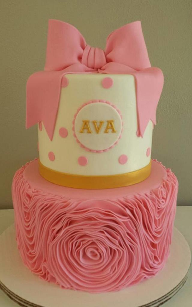 Pink Ruffle and Bow
