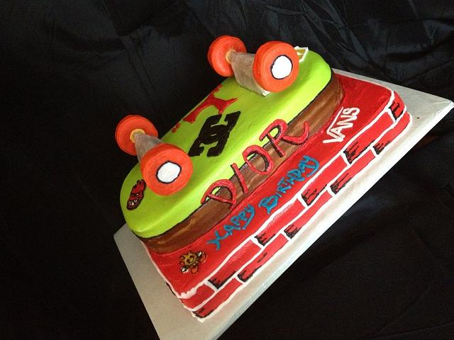 Strange Skateboard Birthday Cake By Dee Cakesdecor Funny Birthday Cards Online Elaedamsfinfo