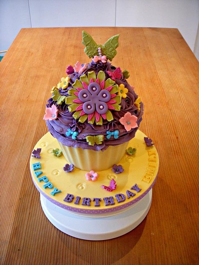 Flower Burst Giant Cupcake