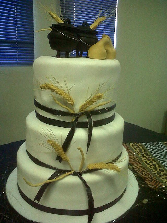 Traditional Xhosa wedding cake , cake by Willene Clair