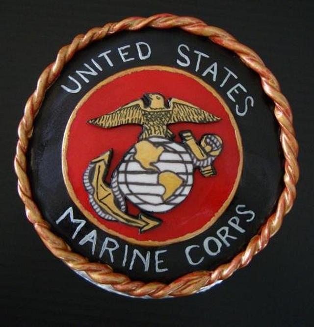 United States Marine Corp Birthday Cake