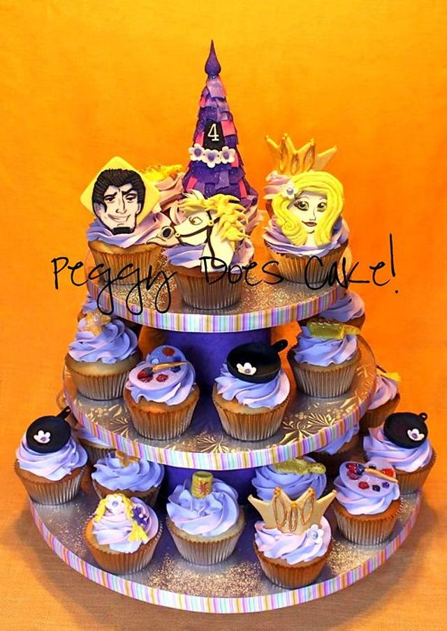 Tangled Cupcake Tower