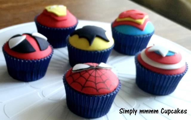 Super Hero Cupcakes!
