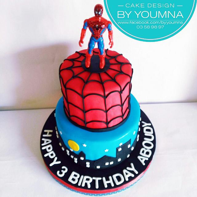 Admirable Spiderman Cake By Cake Design By Youmna Cakesdecor Funny Birthday Cards Online Elaedamsfinfo