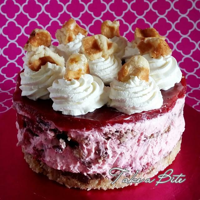 Strawberry Waffle Cheesecake