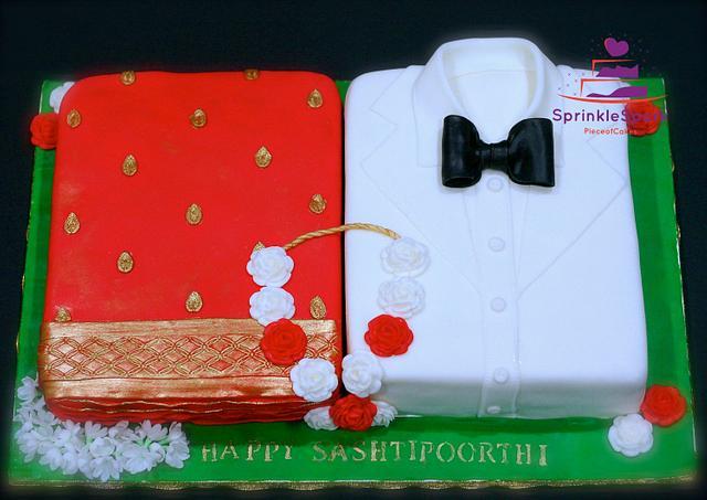 Saree and Tuxedo Cake