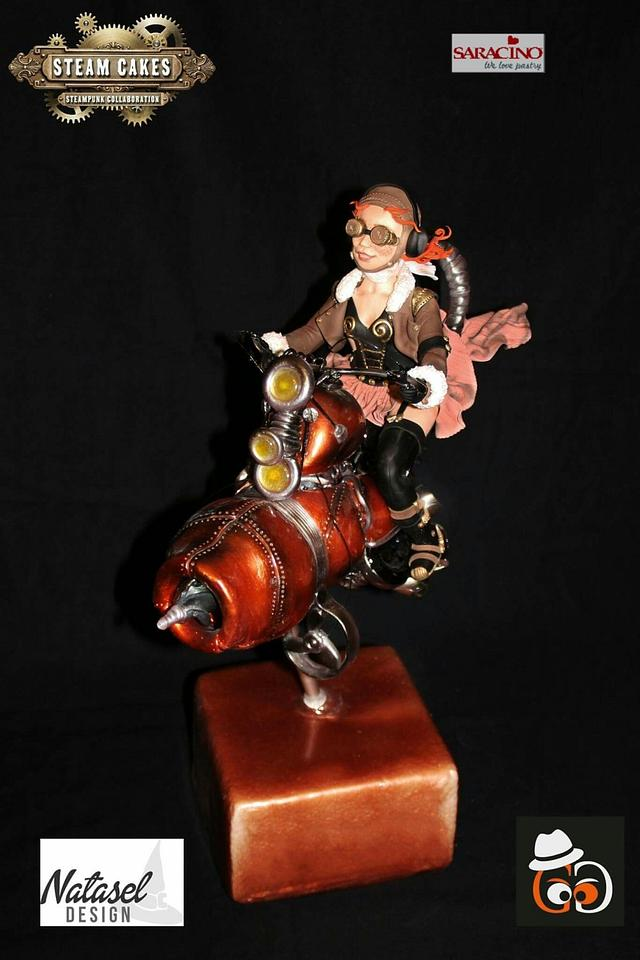 Steampunk biker