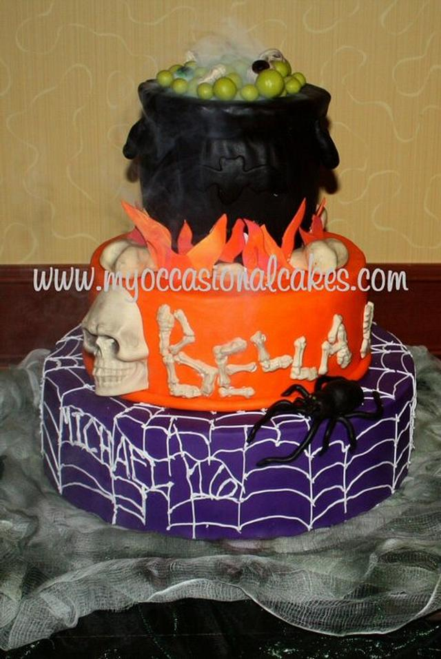 Cauldron 16th bday cake