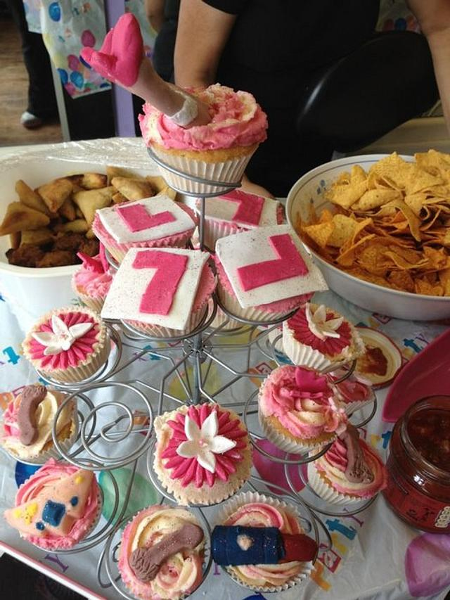 hen night naughty cup cakes