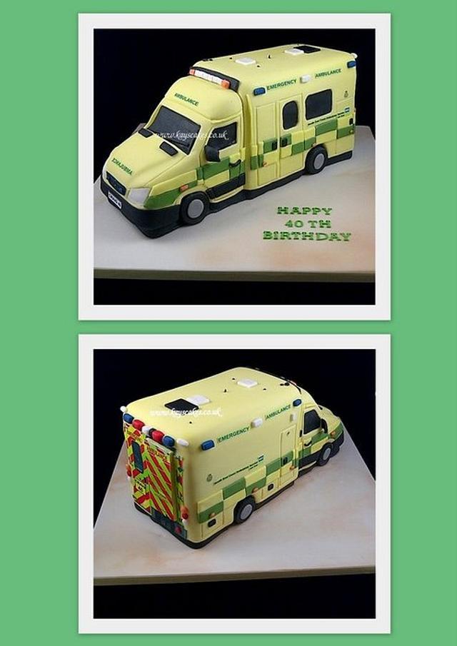 Ambulance Cake for Paramedic