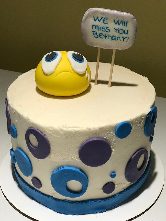 Farewell Cake - sad emoji