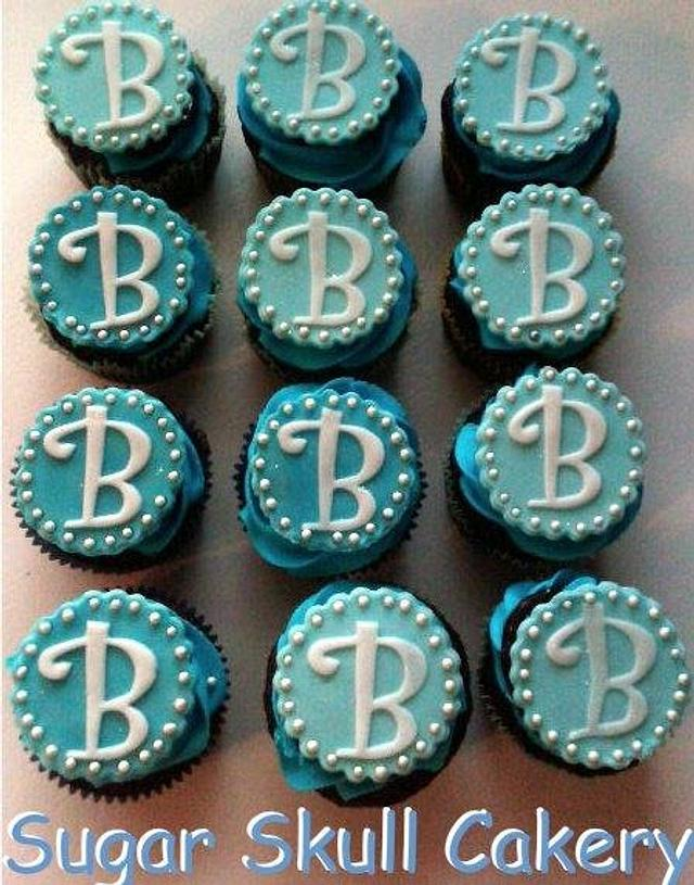 Baby Boy Blue Baby Shower Cupcakes