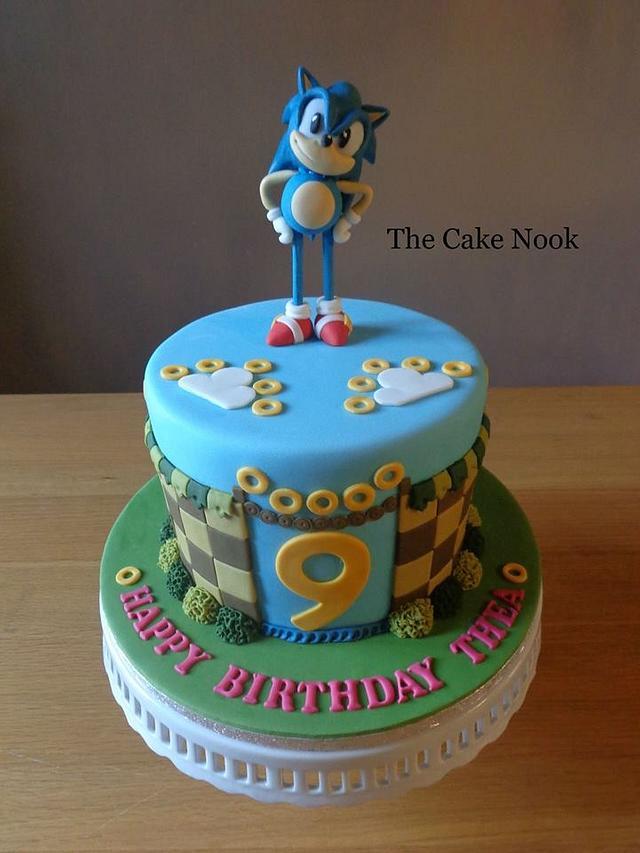 Sonic The Hedgehog Cake Cake By Zoe White Cakesdecor