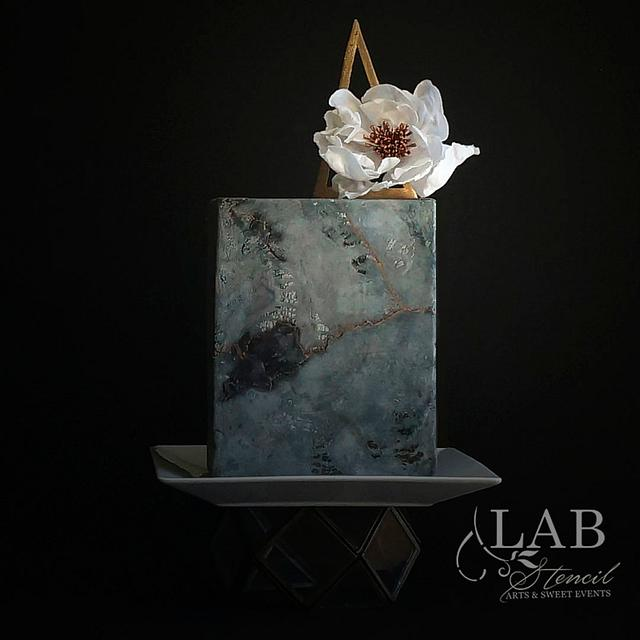 Moody style cake and wafer paper flower