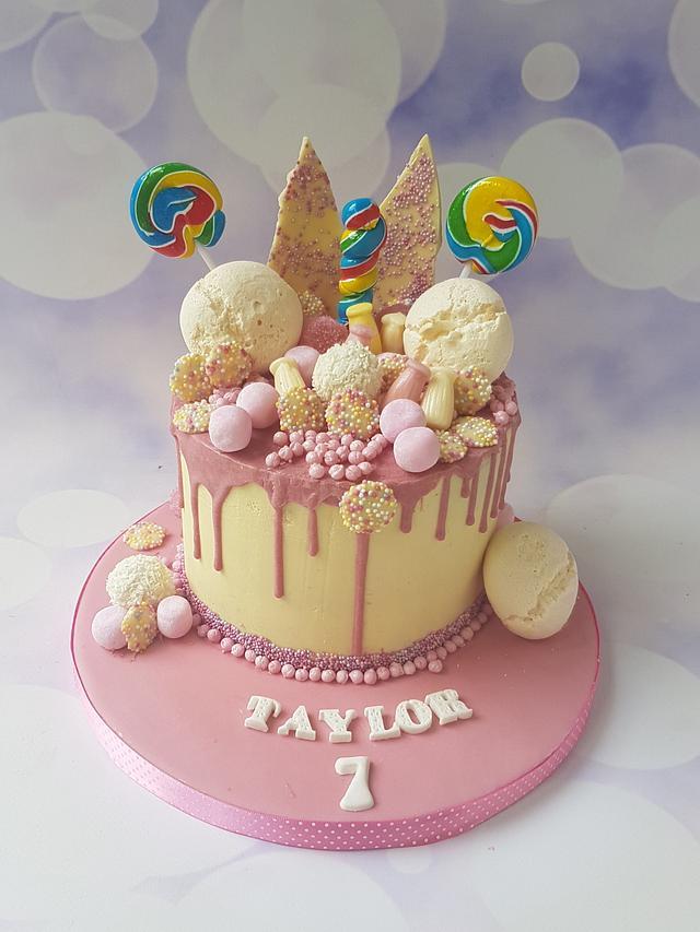 Pink drippy Icing cake