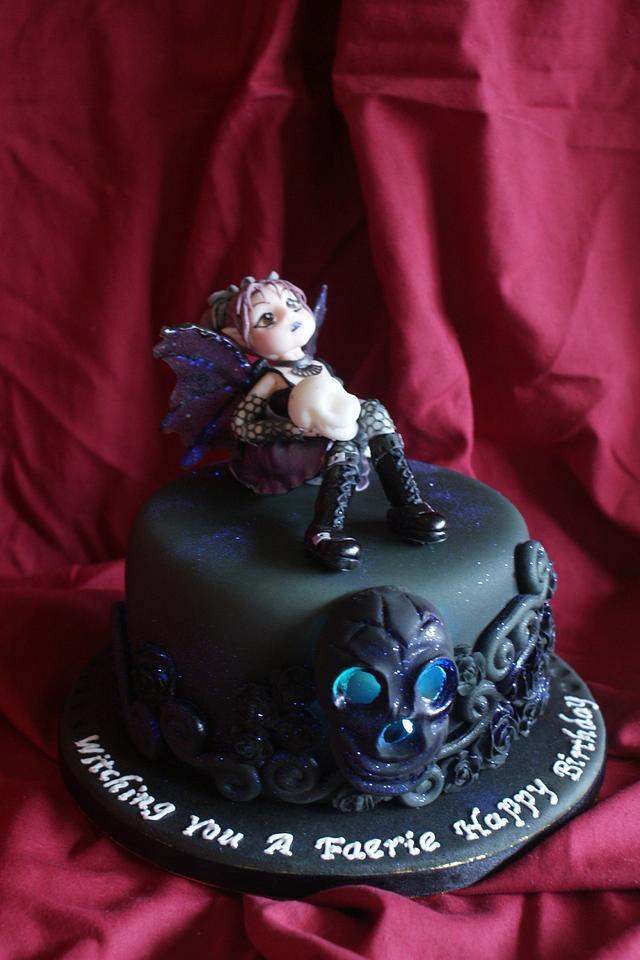Terrific Goth Faerie Birthday Cake Cake By Tipsytruffles Cakesdecor Funny Birthday Cards Online Aeocydamsfinfo