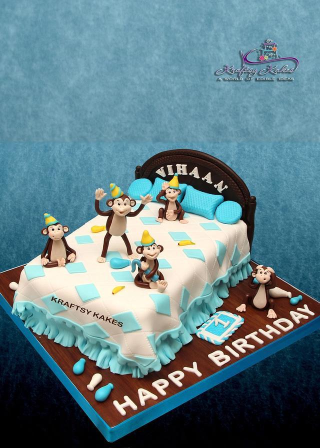 Awe Inspiring Five Little Monkeys Nursery Rhyme Cake Cake By Cakesdecor Personalised Birthday Cards Vishlily Jamesorg