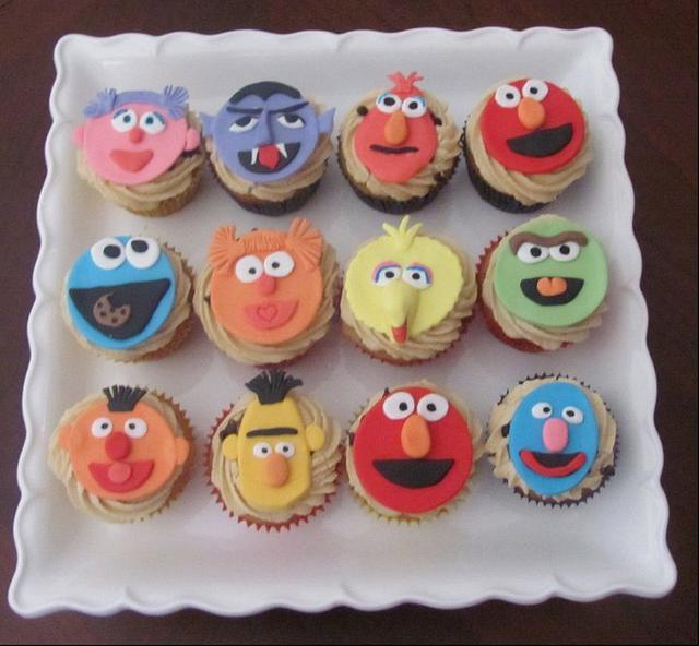 Seasame Street Cupcakes