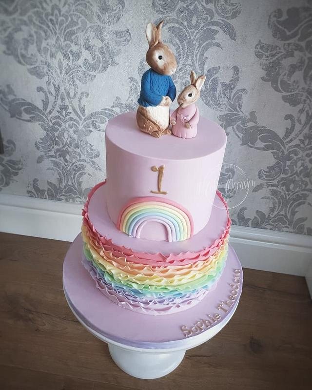 Rabbits 1st birthday cake