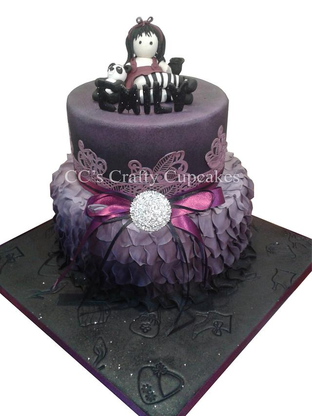 Wondrous Emilys Gothic Birthday Cake Cake By Cathy Clynes Cakesdecor Birthday Cards Printable Inklcafe Filternl