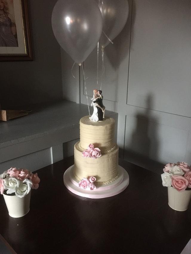 My First Buttercream Wedding Cake