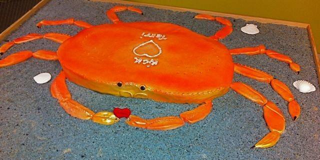 Crab Wedding Cake