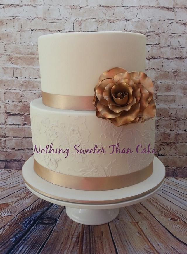 Wedding lace cake