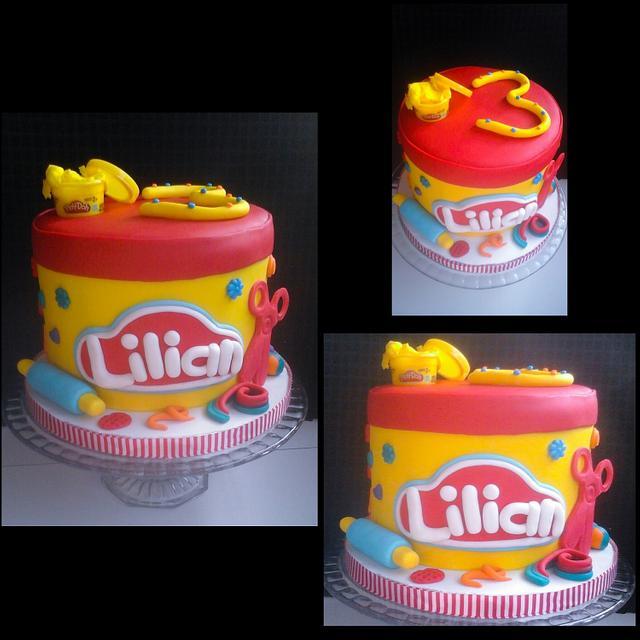 Brilliant Playdoh Themed Birthday Cake Cake By Jenn Szebeledy Cakesdecor Personalised Birthday Cards Veneteletsinfo
