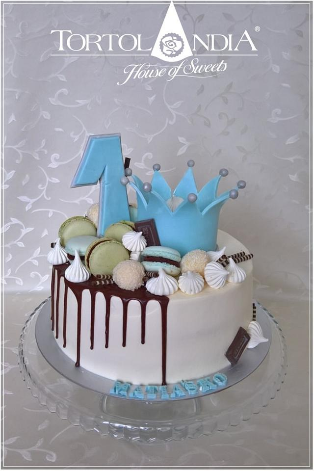 Excellent Drip Cake The 1St Birthday Cake By Tortolandia Cakesdecor Funny Birthday Cards Online Chimdamsfinfo