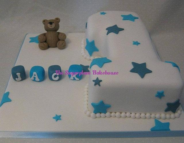 Outstanding Baby Boy Number 1 Birthday Cake Cake By Sam Harrison Cakesdecor Personalised Birthday Cards Paralily Jamesorg