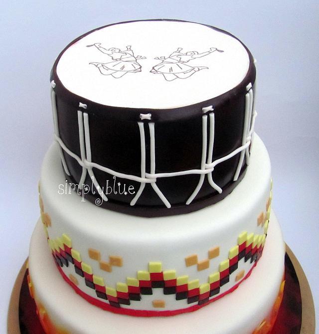 Bulgarian folklore cake