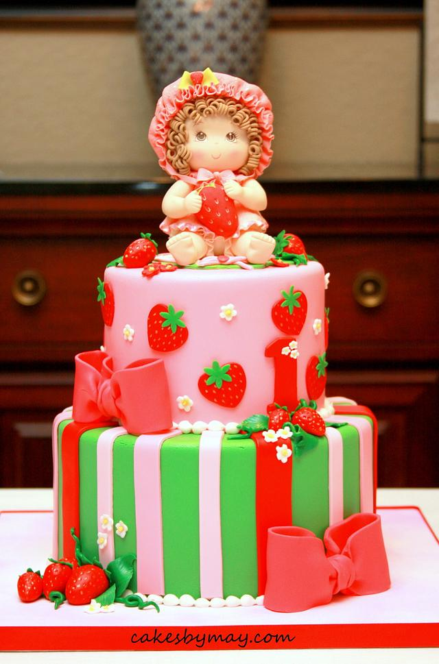 Sensational Strawberry Shortcake 1St Birthday Cake By Cakes By Cakesdecor Personalised Birthday Cards Cominlily Jamesorg