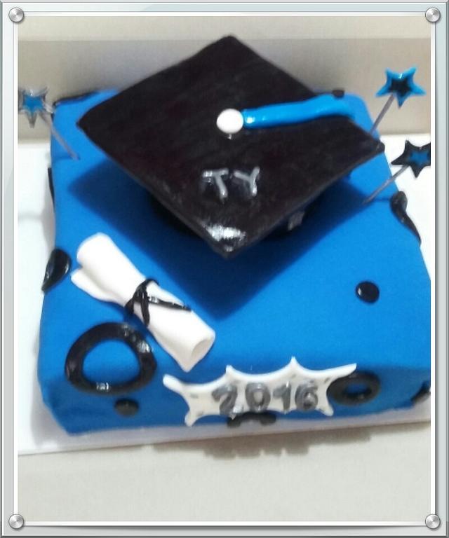 Ty Graduation Cake