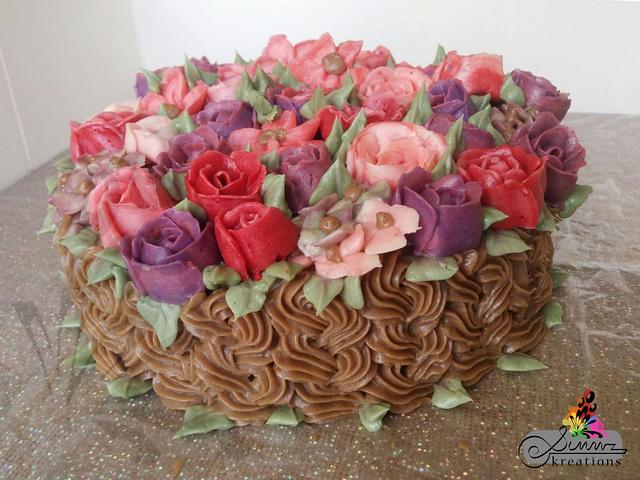 Buttercream Flower Pot