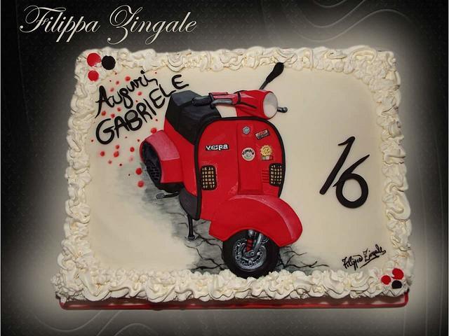 Vespa cake