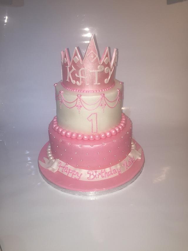 Pretty pink princess 1st birthday