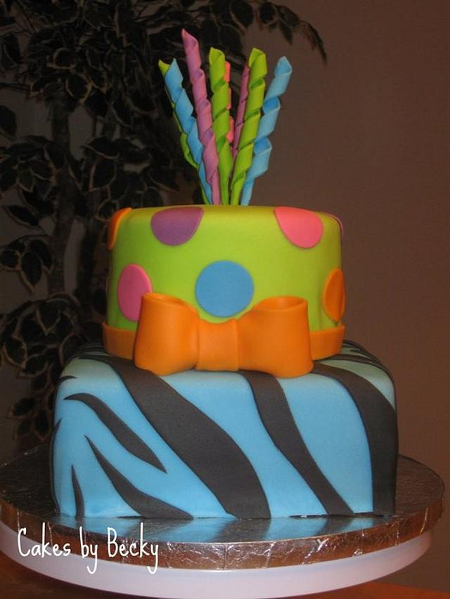 Little Miss Matched Birthday Cake