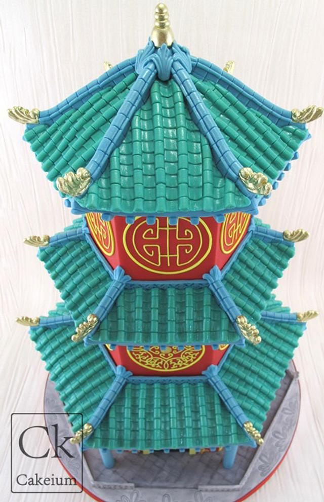 Chinese Pagoda Wedding Cake