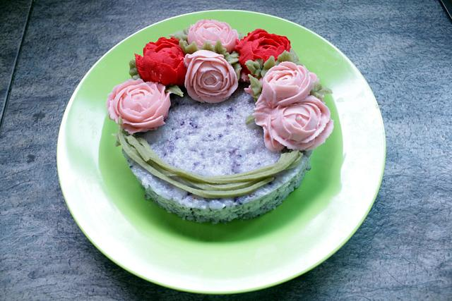 flower rice cake
