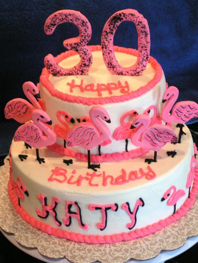 30 One-legged flamingos