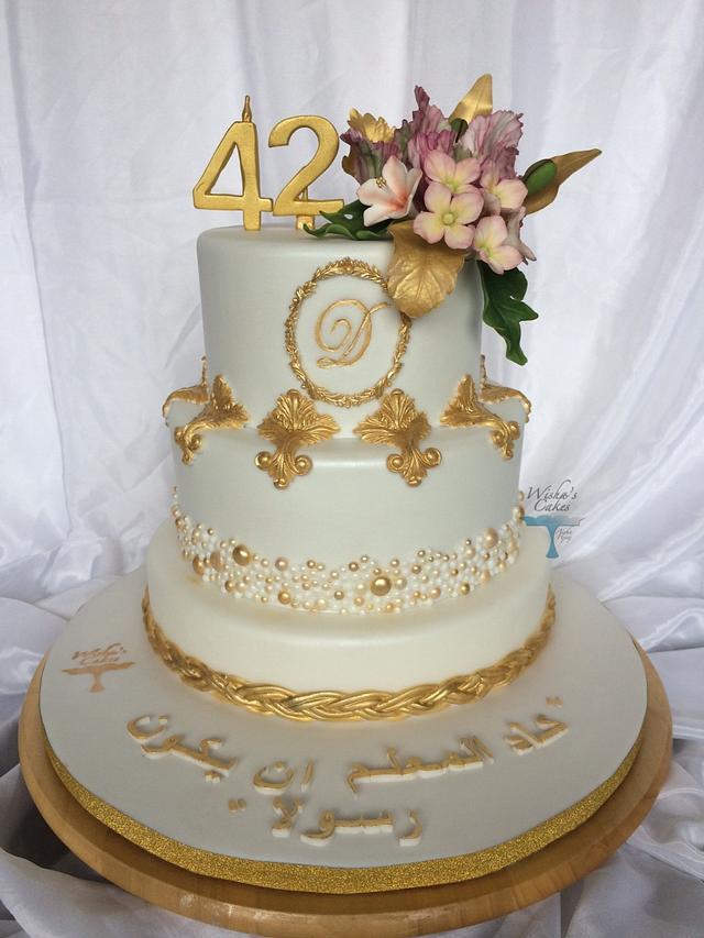 Brilliant 42 Nd Birthday Cake Cake By Wishas Cakes Cakesdecor Funny Birthday Cards Online Fluifree Goldxyz