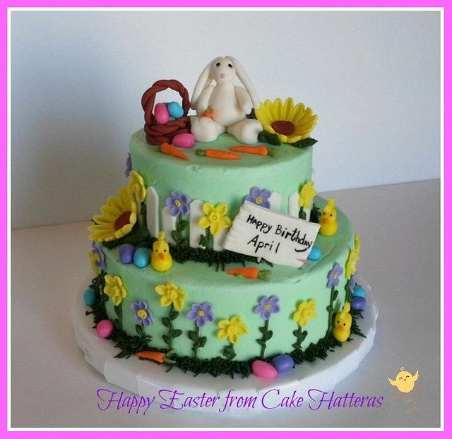 Astounding Happy Easter Birthday Cake By Donna Tokazowski Cake Cakesdecor Personalised Birthday Cards Beptaeletsinfo