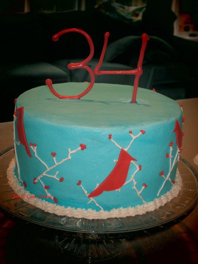 Cardinal Birthday Cake